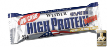 WEIDER Low Carb High Protein Bar 50 Display (24 Stück)