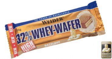 WEIDER 32% Whey Wafer Display (24 Stück)
