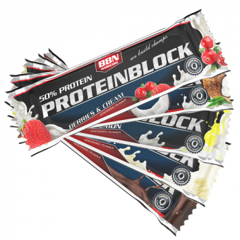 BEST BODY 50% Proteinblock Display (15 Stück)