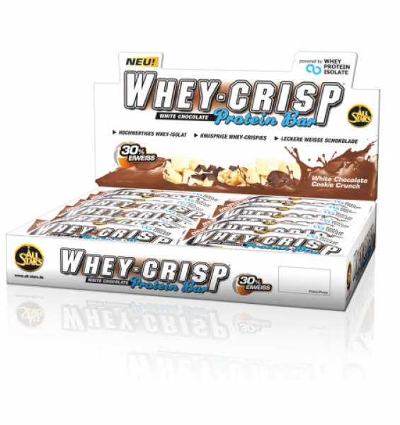 ALL STARS Whey-Crisp Riegel Display (24 Stück)